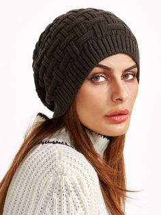 Shop Brown Knit Textured Casual Beanie Hat online. SheIn offers Brown Knit Textured Casual Beanie Hat & more to fit your fashionable needs.