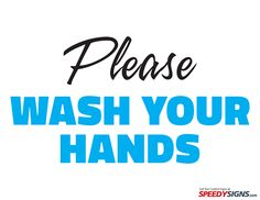 free please wash your hands printable sign template