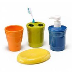 Tumbler, Toothbrush Holder, Soap/Lotion pump, Soap Dish.