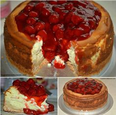 INGREDIENTS: The Crust: 1-1lb of Pillsbury Sugar Cookie Dough, I used the mini cookie dough pieces The Filling: 4-8oz. blocks of Cream Cheese..softened 4 Eggs 1 tablespoon Vanilla Extract 1 cup Granulated Sugar 1 can cherry pie filling for the topping INSTRUCTIONS Press the cookie dough into the bot…