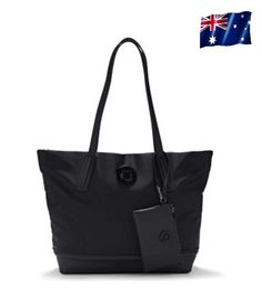 New Genuine Mimco Matte Black Tote Bag Large Luxe Handbag Shoulder Shopper Bags