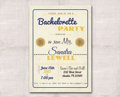 5x7 Bachelorette/Bridal Party Invitation by DarlinBrandoPress
