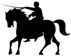 knight silawets with back grounds chess paintings | Horse Rider Silhouettes Vector Free Vector