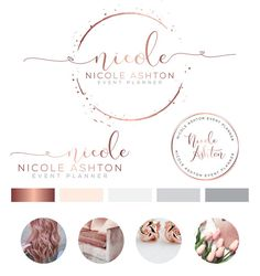 Heart Logo Design, Custom Logo Design, Rose gold Branding kit Logo Design Premade Branding Package, stamp, Photography Logo, watermark
