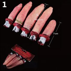 Hot Selling Cheap Halloween Horror Props and Decorative Limbs Broken Limbs Broken Finger Hand Blood Foot Leg Blood LS769