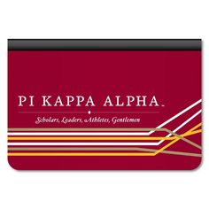 "Pi Kappa Alpha ""Retro Lines Design"" iPad Air Leather Protective Case"