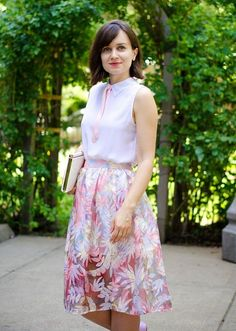 Summer calls for a sweet floral skirt!