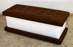 Custom Made Ice Cream Storage Ottoman by Pacific Mfg. Co. - Hubby would love this!