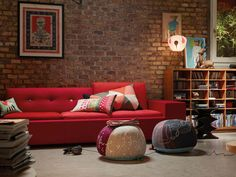 Red Sofa! #modernsofa #homedesign #vitra…
