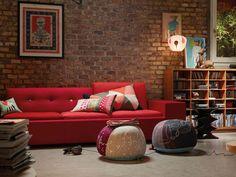 Red Sofa! #modernsofa #homedesign #vitra…