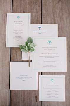 Tropical wedding invitations by Union Street Papery
