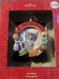 """Hallmark 2009 """"The Cat's Meow"""" Photo Holder - Ornament Hallmark Christmas Ornaments, Hallmark Holidays, Photo Holders, Cats, Ebay, Gatos, Cat, Kitty, Kitty Cats"""