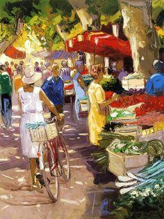 Французский художник. Andre Deymonaz
