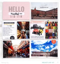 Project Life Madrid *PL Kit Only* by qingmei at @studio_calico - Geralyn Sy