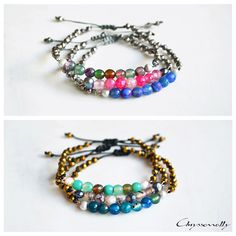 JEWELRY | Chryssomally || Art & Fashion Designer - Boho chic bracelets with agate, pearls and crystals Boho Designs, Fashion Art, Fashion Design, Agate, Boho Chic, Beaded Bracelets, Pearls, Crystals, Jewelry
