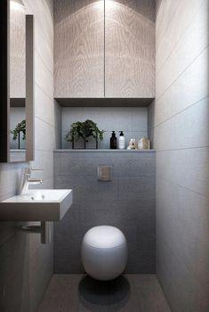 Weximan - Welcome Small Toilet Design, Small Toilet Room, Modern Bathroom Design, Bathroom Interior Design, Bad Inspiration, Bathroom Inspiration, Bathroom Ideas, Wc Decoration, Ideas Baños