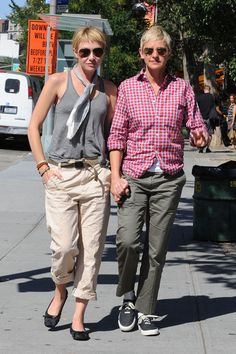 Ellen Degeneres and Portia de Rossi Out and About