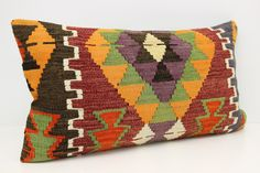 Oriental Lumbar Kilim Pillow Cover 16 x 28 İnterior Desing Couch Seat Pillow Desinger Pillow Organic Pillow Message Pillow  G-174 by kilimwarehouse on Etsy