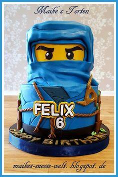 blaue Lego Ninjago Torte / blue cake boys