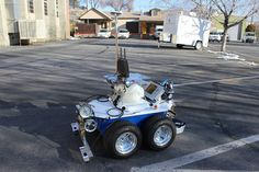 Researchers have designed a 'robot bridge inspector' that is said to cut down on the costs for inspections and is able to thoroughly check for corrosion and other faults in the structure - with 96 percent accuracy Ground Penetrating Radar, Autonomous Robots, Mobile Robot, Robot Design, Head Start, A Team, Monster Trucks, Robotics, Bridges