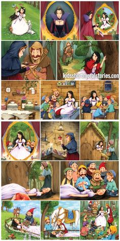 snow white and the seven dwarfs short story snow white and the seven dwarfs short story - You get a Cheezburger, and YOU get a Cheezburger. EVERYONE GETS A CHEEZBURGER. The original internet funny site. Short Fairy Tale Stories, Short Fairy Tales, Sequencing Pictures, Story Sequencing, Moral Stories For Kids, Short Stories For Kids, Snow White Short Story, Picture Story For Kids, Pop Up Karten