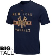 Majestic New York Yankees Big   Tall Cooperstown Desire More T-Shirt - Navy  Blue cfbf4561968