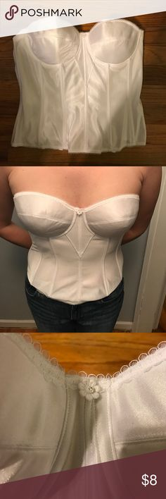White corset bodice piece White corset, worn once at my wedding. Size 38C. Still in excellent condition. Bought from the bridal store David's Bridal. David's Bridal Intimates & Sleepwear Shapewear