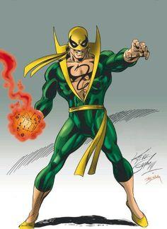 Iron Fist of Marvel Comics. Marvel Comic Universe, Marvel Comics Art, Comics Universe, Superhero Characters, Comic Book Characters, Comic Book Heroes, Iron Fist Comic, Iron Fist Marvel, Lego Marvel