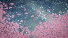 Pool Rain Petals   -  gif   -    Koko Tensho /  ココ天正  -  http://kokotensho.deviantart.com/
