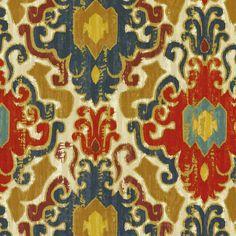 SMC Swavelle Millcreek Home Decor Print Fabric Toroli Twill Jewel - to make kitchen roman shade?
