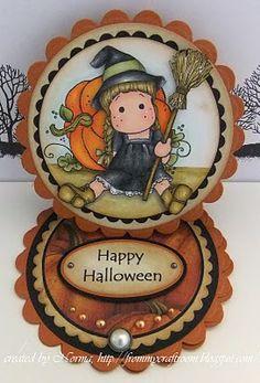 From My Craft Room: Broom Tilda - mini easel card