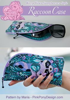 Keep Your Sunglasses Safe - Raccoon Case! Free Pattern! - from NotOnlyQuilts.com