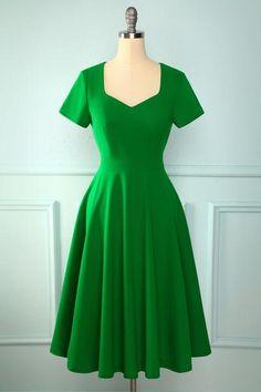 Vintage 1950s Dresses, Vestidos Vintage, Mint Dress, Green Dress, Black Dress With Sleeves, Dresses With Sleeves, Half Sleeves, Short Sleeves, Vestidos Rockabilly
