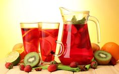 Red fruit juice image strawberry orange and lemon Juice Royalty free image High resolution photography, thank you for viewing my image Fruit Juice Image, Virgin Sangria, Apple Tea, Sangria Recipes, Drink Recipes, No Dairy Recipes, Cooking Recipes, Healthy Juices, Healthy Food