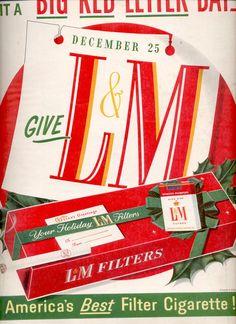 Dec. 13, 1955 L & M Filters Cigarettes  ad (# 829)