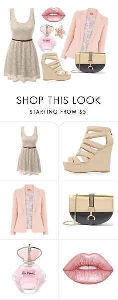 """Untitled #149"" by lenka-skodiova on Polyvore featuring LE3NO, Charlotte Russe, Lanvin, Lime Crime and NAKAMOL"