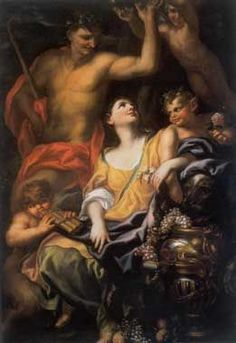 DOMENICO PIOLA ( Genoa 1627 - 1703). BACCHUS AND ARIADNE. suggested date: 1685/1690. oil on canvas. 222 × 162 cm. Provenance: until 1970, Novi Ligure, Parodi Collection. Genoa. Zerbone Collection.