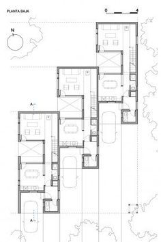 Gallery of CLF Houses / Estudio BaBO – 16 – architectural The Plan, How To Plan, Villa Plan, Modern House Plans, Small House Plans, Architecture Plan, Residential Architecture, Hotel Floor Plan, Architectural Floor Plans