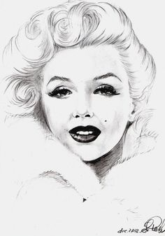 Portrait of Marilyn Monroe by svetliaciok on Stars Portraits, the biggest online gallery for celebrity portraits. Marilyn Monroe Kunst, Marilyn Monroe Drawing, Marilyn Monroe And Audrey Hepburn, Marilyn Monroe Artwork, Marylin Monroe, Beautiful Sketches, Pen Sketch, Norma Jeane, Pencil Drawings