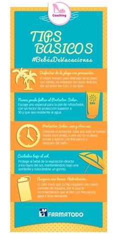Tips básicos para disfrutar en la playa con tu bebé. #Vacaciones #Playa #Bebe #Tips #Consejos