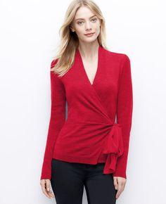 Merino Wool Wrap Sweater | Ann Taylor