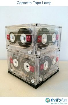 Unsure what to do with your old cassette tapes. How about a cool and crafty lamp? Learn how to make it in this short video.