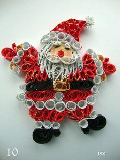 To co robię i co lubię: Quilling- świąteczne zawieszki na choinkę