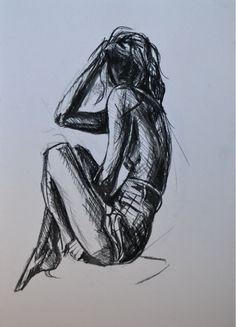 Original Drawing 'Girl reclining' by CiaraMcQueirns on Etsy, €35.00