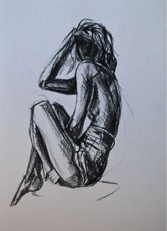 Original Drawing 'Girl reclining' by CiaraMcQueirns on Etsy, €35.00