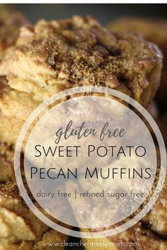 gluten free muffins | sweet potato muffins | holiday desserts | Christmas breakfast recipes | dairy free muffins | sweet potato recipes | easy muffin recipes | clean eating | Sweet Potato Pecan Muffins