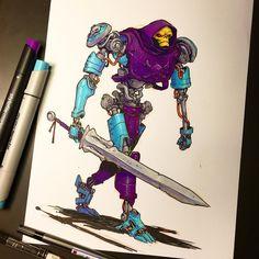 Jake Parker é um artista ilustrador e quadrinista que já trabalhou em grandes estúdios, como da Marvel Comics e Disney, por exemplo.