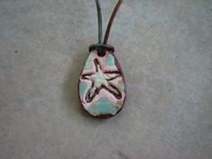 Tear Drop Starfish EO Diffuser Pendant, Essential Oil Pendant, Beach Necklace…
