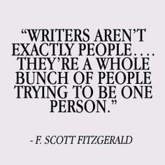 Writers Aren't Exactly People