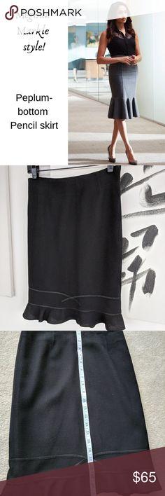 0dcbd5a924ea4 Black flounce bottom pencil skirt XXS XS The ULTIMATE in FLIRTY and  FEMININE! Black